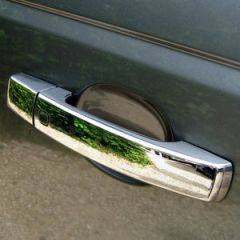 RRH386 - Door Handle Covers In Chrome - With Button For Keyless Entry System on Range Rover Sport and Discovery 4