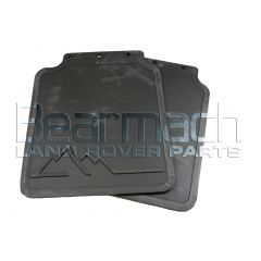 RTC6821 - Genuine Land Rover Rear Mudflap Kit for Discovery 1 - With Logo - Pair With Fixings