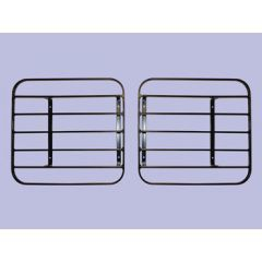 RTC8969 - Front Lamp Guard Kit - Rectangular - Too Look Like Genuine Hinged Style - For Defender