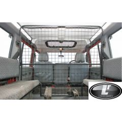 STC7555 - Full Length Dog Guard For Defender 110 County Station Wagon In Grey - Up to 2007