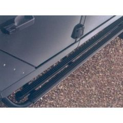 STC8015AA - Black Moulded Rubber Top Side Steps Defender 110  Genuine Style