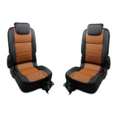 OEM Land Rover Defender Rear Seats - Third Row Premium Seats in Windor Leather - Black on Tan - Fits from 2007 Onwards