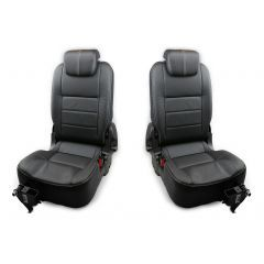 OEM Land Rover Defender Third Row Both Seats - Premium Seats in Black Ottawa Leather - Fits from 2007 Onwards