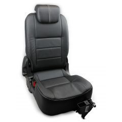 OEM Land Rover Defender Third Row Left Hand Seat - Premium Seats in Black Ottawa Leather - Fits from 2007 Onwards