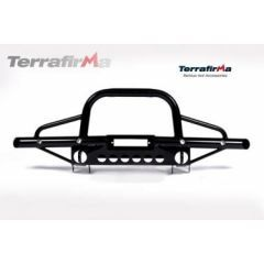 TF001 - Terrafirma Tubular Winch Bumper for Defender - Without Air Con / With A Bar