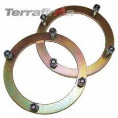 TF502 - Terrafirma Front Shock Turret Securing Rings - For Defender, Discovery 1 and Range Rover Classic