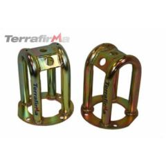 """TF503 - Tubular Front Shock Turrets - Lowered Height (Minus 2"""") - For Defender, Discovery 1 and Range Rover Classic"""