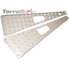 WTKIT01-LAH/A - Defender Wing Top Chequer Plates in Satin / Silver Anodised (Aerial LHS)