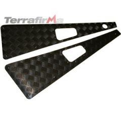 WTKIT01-LAH/B - Defender Wing Top Chequer Plates in Black (Aerial LHS)