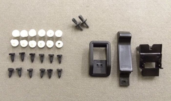 Bearmach LandRover Defender Interior Door Card Trim Panel Clips Fasteners Set x2