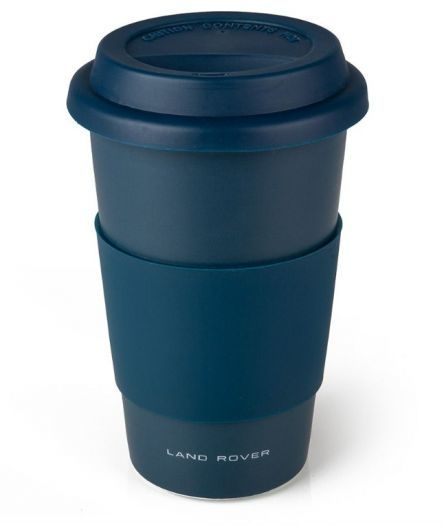 LAND ROVER STAINLESS STEEL TRAVEL MUG WITH NAVY GRIP