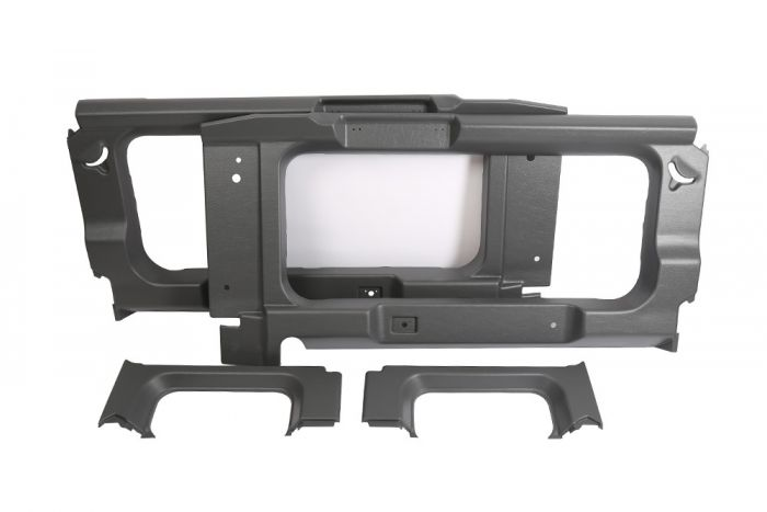 BA8001 - Rear Interior Side Trims for Land Rover Defender 90 - In Light  Grey - With Cut Out for Side Windows
