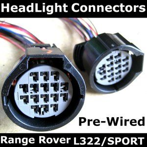 RRC308 - Pre-Wired Headlight Connectors For Conversion