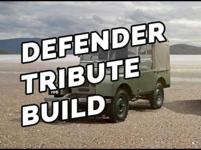 LR Centre Proud Sponsors of Defender Tribute Build